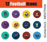 flat design american football...