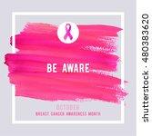 breast cancer awareness... | Shutterstock .eps vector #480383620