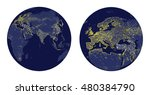 vector illustration of earth... | Shutterstock .eps vector #480384790
