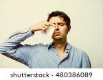 man crying | Shutterstock . vector #480386089
