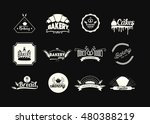 set of bakery logos  badges and ... | Shutterstock .eps vector #480388219