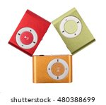 the mp3 players color isolated | Shutterstock . vector #480388699