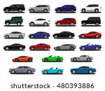 realistic car. different cars.... | Shutterstock .eps vector #480393886