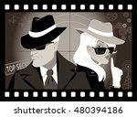 mysterious couple of secret... | Shutterstock .eps vector #480394186