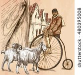 Bicyclist.cyclist On The...