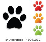 Stock vector  paw print collection 48041032