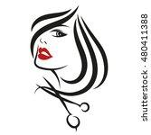 female face for beauty salon ... | Shutterstock .eps vector #480411388