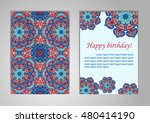 a set of cards with happy... | Shutterstock .eps vector #480414190