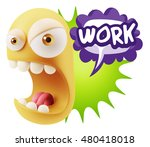 3d rendering angry character... | Shutterstock . vector #480418018