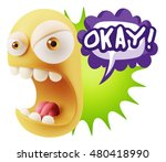 3d rendering angry character... | Shutterstock . vector #480418990