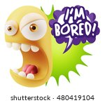 3d rendering angry character... | Shutterstock . vector #480419104