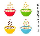 set of different cereals and... | Shutterstock .eps vector #480420550