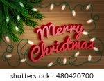 merry christmas. fir tree...   Shutterstock .eps vector #480420700