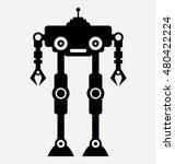 robot transformer  icon  flat...   Shutterstock .eps vector #480422224