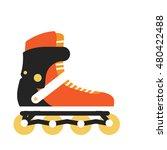 inline roller skate vector....   Shutterstock .eps vector #480422488
