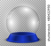crystal ball on blue stand.... | Shutterstock .eps vector #480422950