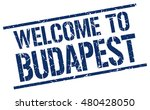 welcome to. budapest. stamp | Shutterstock .eps vector #480428050