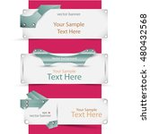 vector set of banners in the... | Shutterstock .eps vector #480432568