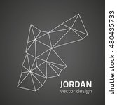 jordan black outline triangle... | Shutterstock .eps vector #480435733