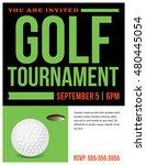 a flyer for a golf tournament... | Shutterstock .eps vector #480445054
