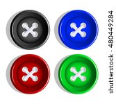 buttons. multi colored plastic... | Shutterstock .eps vector #480449284