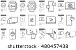mobility vector line icon set...   Shutterstock .eps vector #480457438