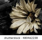 flower artwork oil paint canvas ... | Shutterstock . vector #480462238