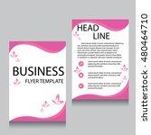 vector brochure flyer design... | Shutterstock .eps vector #480464710