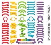 set of ribbons 80  labels... | Shutterstock .eps vector #480470314