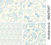 outline floral patterns in set | Shutterstock .eps vector #48047047