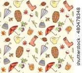 autumn seamless pattern can be... | Shutterstock .eps vector #480478348