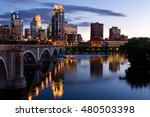 minneapolis minnesota downtown... | Shutterstock . vector #480503398