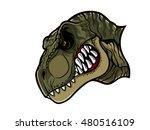 cartoon t rex who was very... | Shutterstock .eps vector #480516109