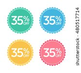 35  off. sale and discount... | Shutterstock .eps vector #480517714