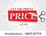 sale and discounts cut prices... | Shutterstock .eps vector #480518794