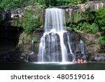 Waterfall On Kood Island. The...