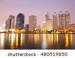 bangkok night city scape | Shutterstock . vector #480519850