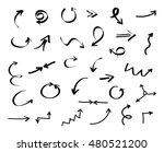 hand drawn arrows.vector arrows ... | Shutterstock .eps vector #480521200