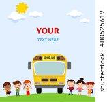 multinational kids going to... | Shutterstock .eps vector #480525619