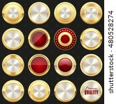 collection of gold and red... | Shutterstock .eps vector #480528274