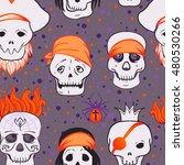 halloween cute seamless pattern.... | Shutterstock .eps vector #480530266
