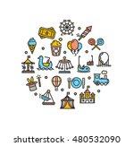 amusement park round design... | Shutterstock . vector #480532090