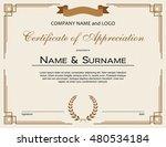 certificate of appreciation... | Shutterstock .eps vector #480534184