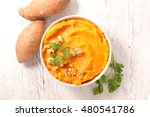 sweet potato puree | Shutterstock . vector #480541786