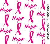 vector watercolor pink ribbon   ... | Shutterstock .eps vector #480551050