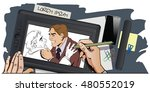 stock illustration. people in... | Shutterstock .eps vector #480552019