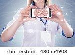 double exposure  doctor holding ... | Shutterstock . vector #480554908