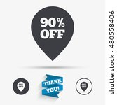 90  sale pointer tag sign icon. ... | Shutterstock .eps vector #480558406