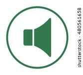 volume icon. flat design.