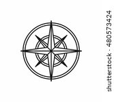 compass wind rose in outline... | Shutterstock .eps vector #480573424